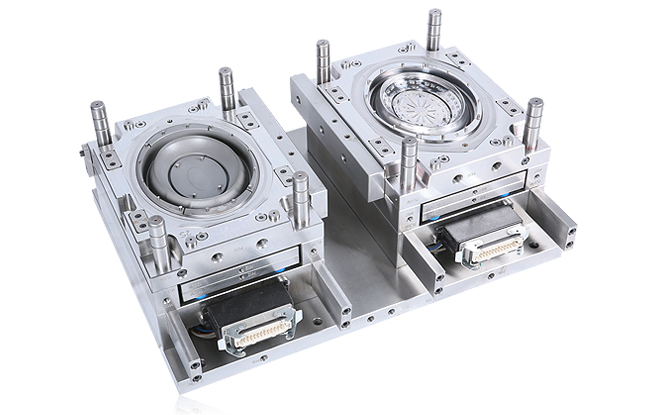 Two color mold by rotary table